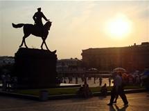Moskva, socha generála Kutuzova