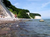 Rujana, pláž u národního parku Jasmund