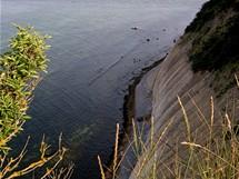 Rujana-Arkona. Některé útesy jsou opravdu dost vysoké