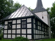 Wytowno, hrázděný kostel sv. Františka z Asisi