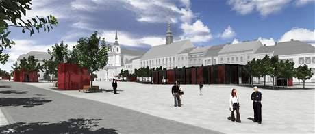 Společnost Schrapnel vypracovala studii náměstí bez obchodního domu. Ten má nahradit restaurace nebo kavárna.