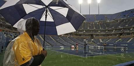 Déšť na US Open