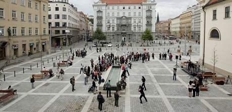 V Brně bylo otevřeno zrekonstruované Moravské náměstí.
