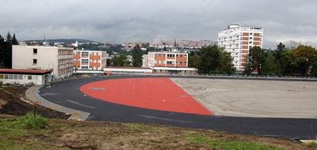 Opravený Stadion mládeže ve Zlíně.