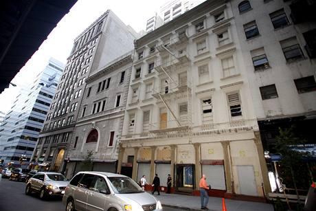 Místo plánovaného islámského centra poblíž Ground Zero v New Yorku