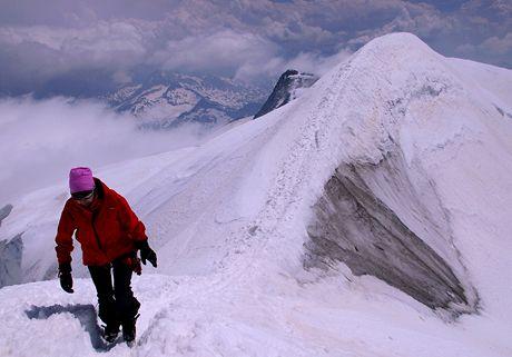 Poslední metry pod vrcholem Grossvenedigeru
