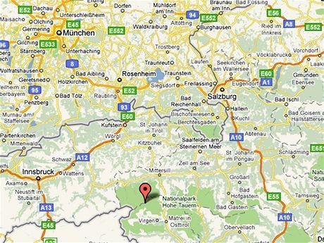 Mapa Vysokých Taur