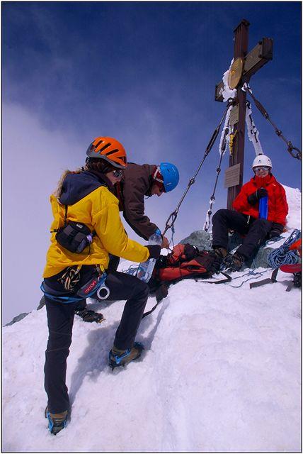 Na vrcholu Grossglockneru (3798 m)
