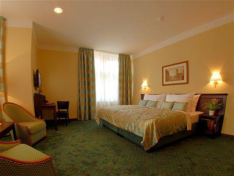 Pokoj v pražském hotelu Downtown