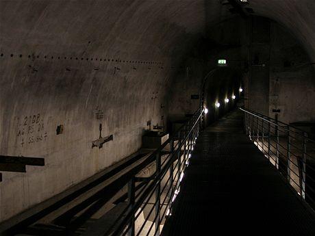Pohled do podzemních chodeb vbývalém Hitlerově sídle Obersalzberg