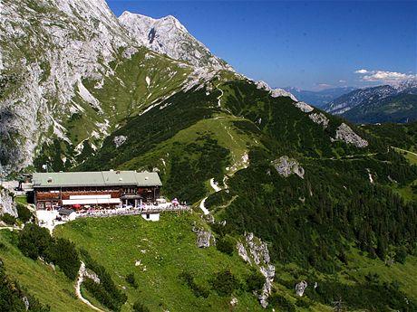 Horní stanice lanovky Jennerbahn nabízí skvělé výhledy