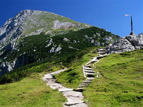 Pohled na vrchol Schneibstein