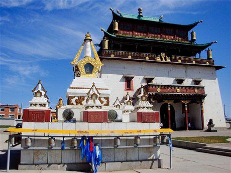 Gandan. Hlavní ulánbátarský klášter