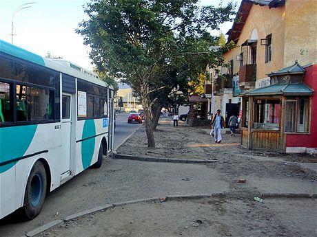 Chodníky vUlánbátaru většinou nejsou vydlážděné