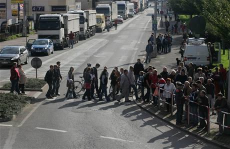 Blokáda za obchvat Náchoda