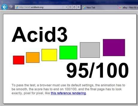 IE9 Acid 3 95/100
