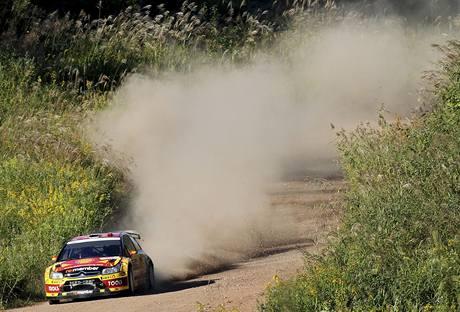 Petter Solberg na trati Japonské rallye.