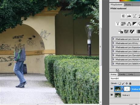 Photoshop - zarovnání vrstev
