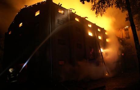Požár sušárny chmele v Mšeci na Rakovnicku