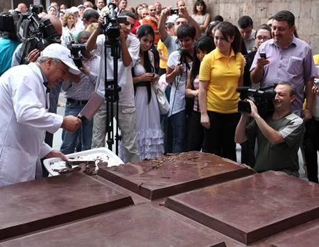 Největší čokoládu na světě vyrobili v Arménii