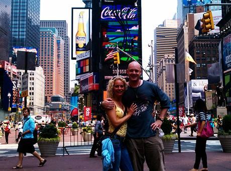 Kristina Kloubková a Karel Moravec v New Yorku
