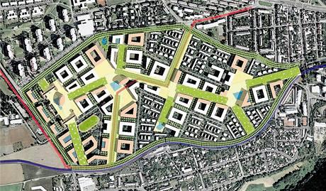 Autoři navrhli městečko, které se od klasické bytové výstavby liší. Chtějí něco neopakovatelného