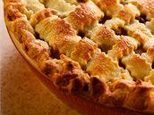 Jablkový mřížkový koláč.