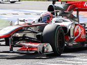 Brit Jenson Button ze stáje McLaren ve Velké ceně Itálie.