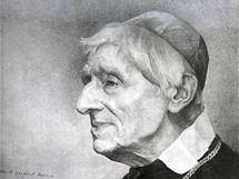 Portrét kardinála Johna Henry Newmana, který v 19. století konvertoval od anglikánů ke katolictví