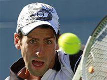 Novak Djokovič v semifinále US Open proti Federerovi.