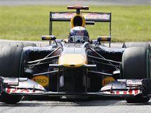 Sebastian Vettel ze stáje Red Bull při Velké ceně Itálie.
