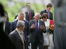 Návštěva prezidentského páru na Vysočině (sklárny ve Světlé nad Sázavou)