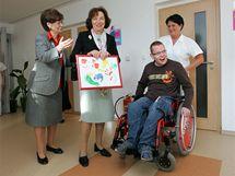 Livie Klausová navštívila při třídenním pobytu na Vysočině i dětské centrum v Jihlavě