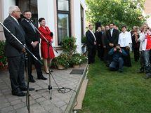 Prezidentský pár navštívil při svém třídenním pobytu na Vysočině i kozí farmu v Ratibořicích na Třebíčsku