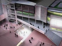 Jedna z existujících studií nabízí možnou přestavbu budovy.
