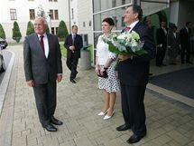 Třetí den svého pobytu na Vysočině se prezident Václav Klaus setkal s krajskými zastupiteli.