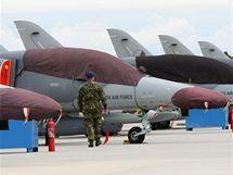 Nové letouny L-159 na letecké základně v Náměšti nad Oslavou