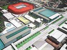 V roce 2006 se v médiích obejvili vizualizace, jak by mohl sportovní areál za Lužánkami vypadat v roce 2009