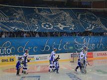 Zahájení nové sezony extraligy hokeje v brněnské hale Rondo domácí Kometě nevyšlo - prohrála s Třince 2:3 (17. září 2010)