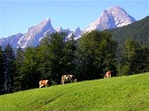 Pohled na jeden znejvyšších masivů Německa – Watzmann (2713 m.n.m.)