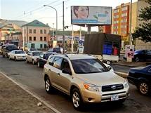 Bláznivá doprava vcentru Ulánbátaru