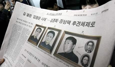 Kim Čong-ilův syn Kim Čong-um se poprvé objevil v severokorejských médiích (28. září 2010)