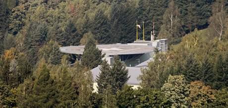 Heliport vojenské nemocnice v Těchoníně v Orlických horách