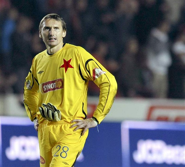 BEZNAD�J Martin Vaniak, branká� Slavie, po derby se Spartou.