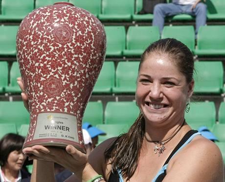 TITUL JE MŮJ. Raduje se na turnaji v Soulu Alisa Klejbanovová