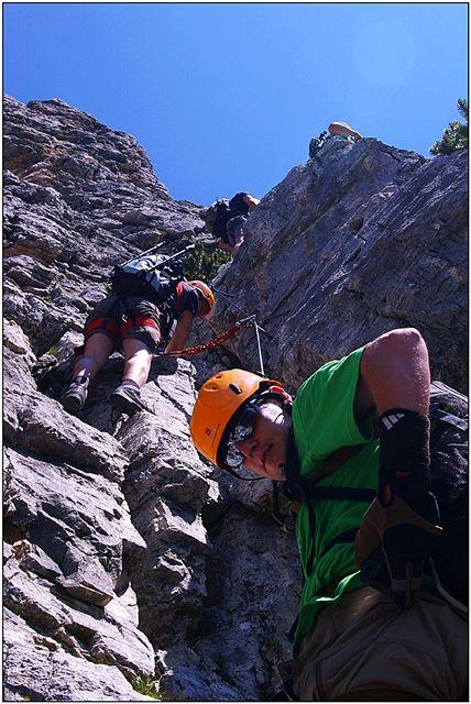 Z výstupu ferátou Via Etore Bovero na Col Rosa (2166 m)