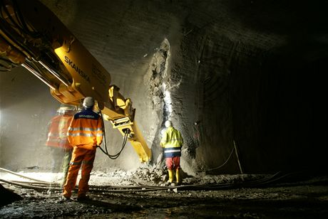 Cholupický tunel - Zahájení ražby