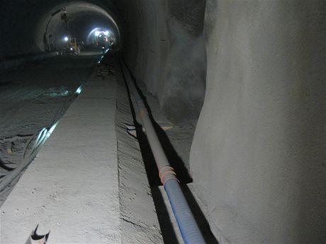 Cholupický tunel - Potrubí boční tunelové drenáže