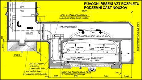 Cholupický tunel -  Původní návrh podzemního rozpletu