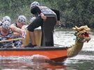 Na řece Dyji ve Znojmě se konalo amatérské mistrovství světa dračích lodí (25. září 2010)